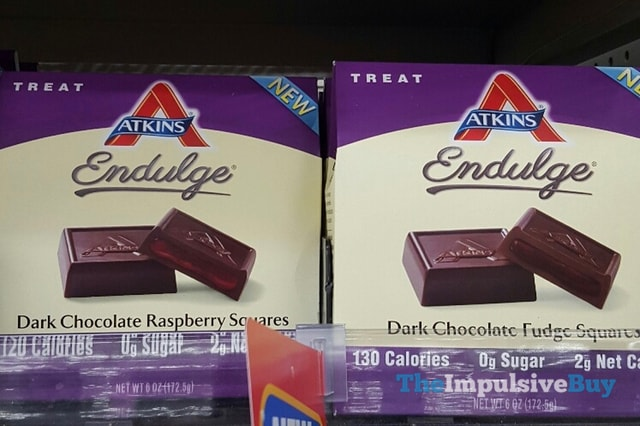 Atkins Endulge Dark Chocolate Raspberry and Dark Chocolate Fudge Squares