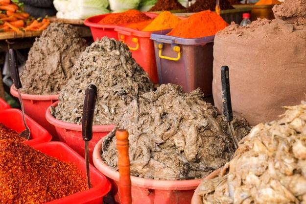 Fish paste and chili. Zeigyo market. Mandalay