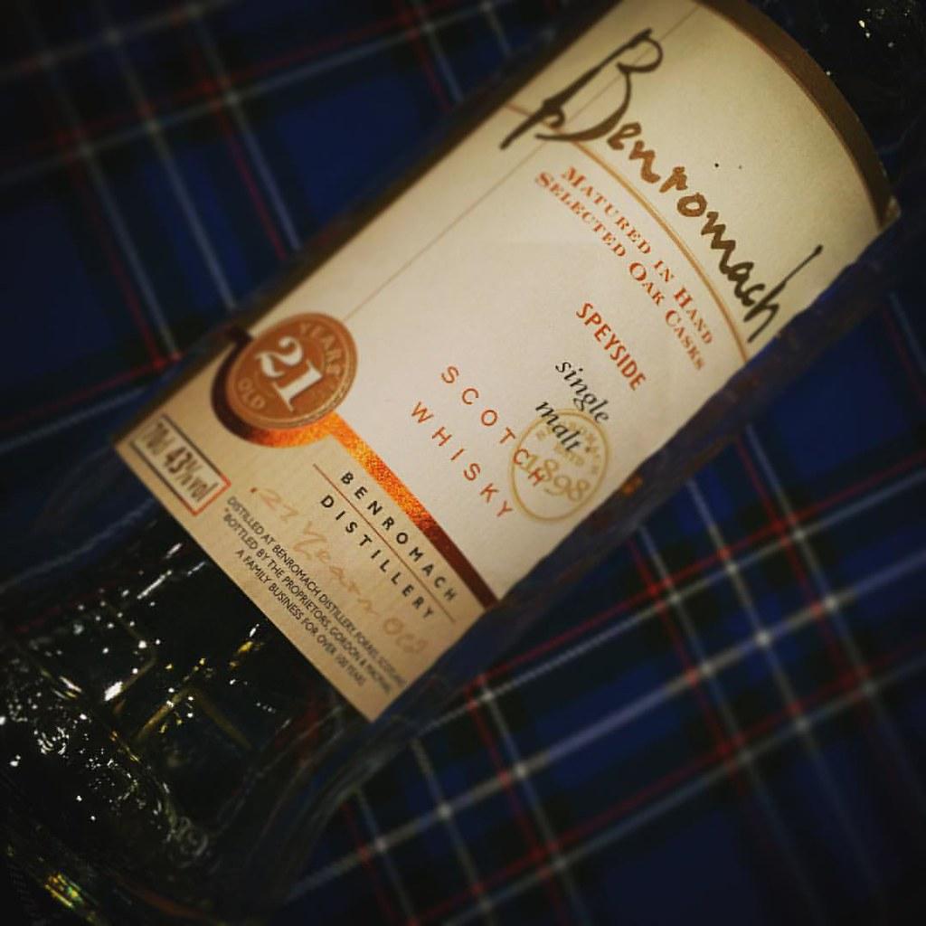 Een oude Benromach 21 botteling, super!