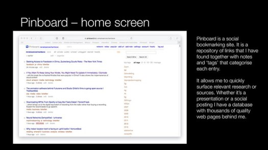 Pinboard - home screen