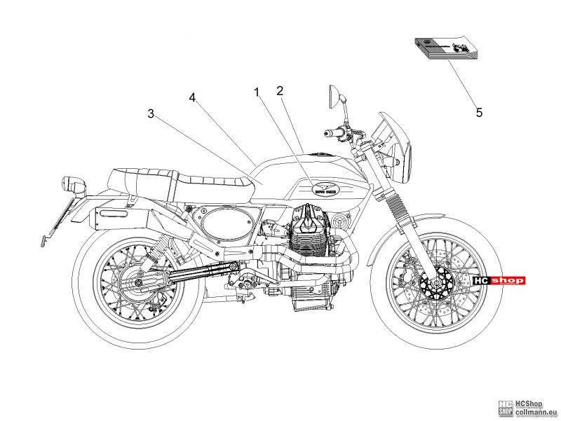 Foto Nr. 1: Moto Guzzi V7 II Stornello Abziehb. + Schilder