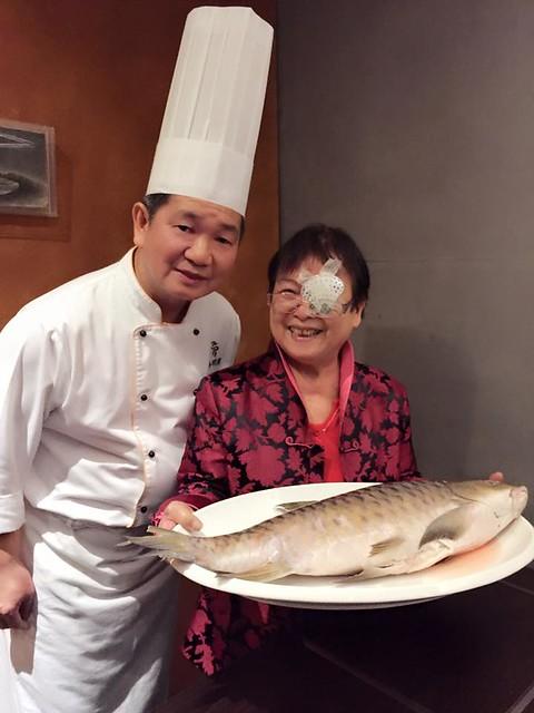 陳偉強在與玥樓粵菜點心餐廳。