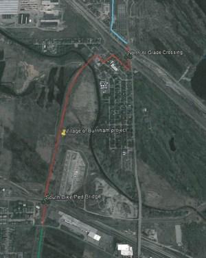 Burnham Gap Map