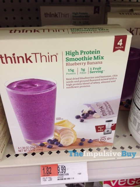 ThinkThin Blueberry Banana High Protein Smoothie Mix