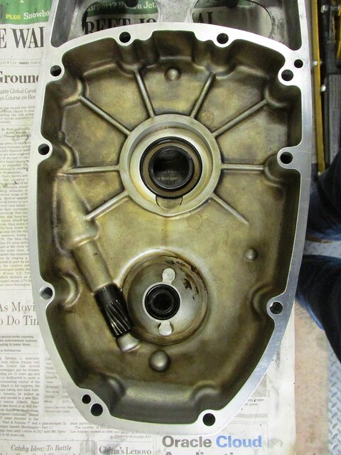 Inner Timing Cover Mating Surface Clean and Shiny