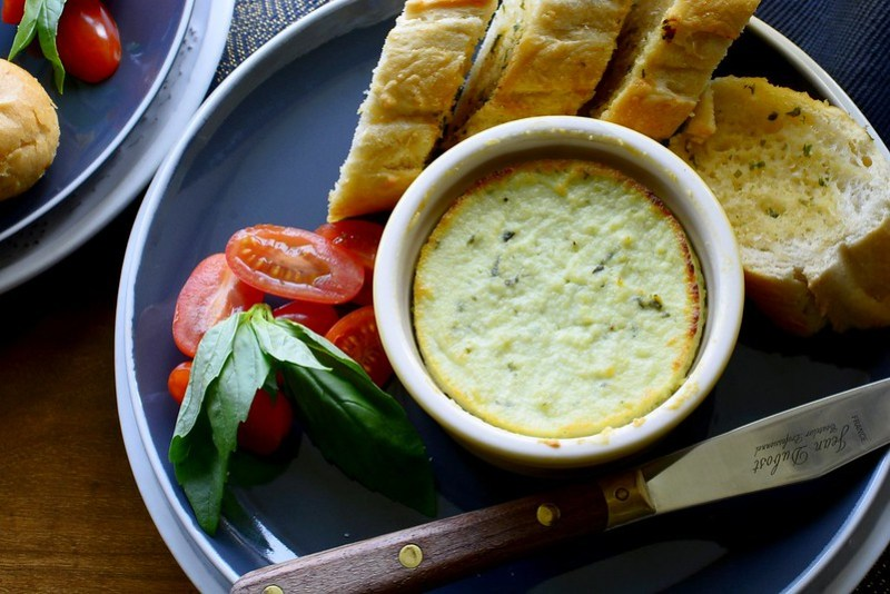 Baked Ricotta with Basil and Lemon