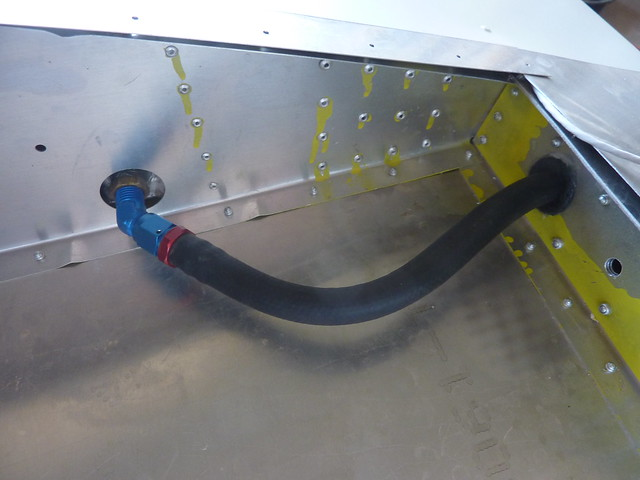 Fuel line inside the wing