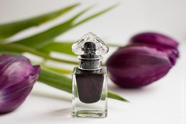 02 Guerlain La Petit Robe Noire Nail Color #007 Black Perfecto swatches Ann Sokolova