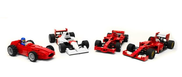 A Quartet Of Lego F1 Cars The Brothers Brick The Brothers Brick