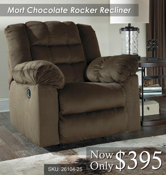 Mort Chocolate Rocker Recliner
