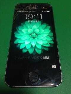 54_iPhone5Sのフロントパネルガラス割れ&イヤースピーカー交換