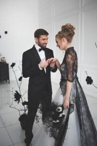 Black and white wedding dress for A Magic Black Wedding ...