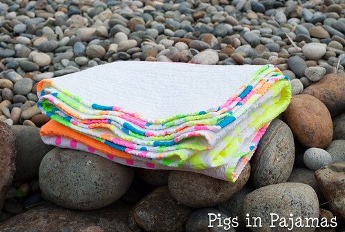 Neon quilt folded