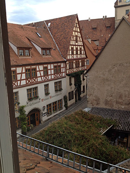 View from our hotel Rothenburg