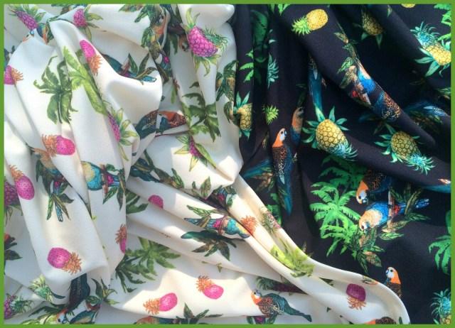 parrot fabric (Lucy Has a Secret - Mon Depot)