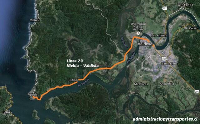 Línea 20 Niebla Valdivia