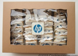 HP logo cookies