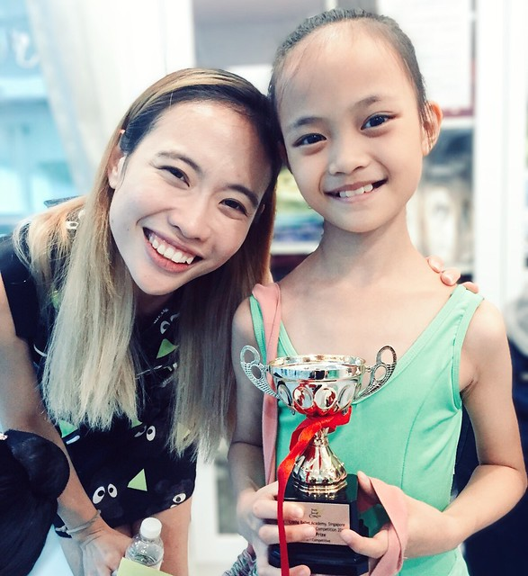 Aina & Miss Ho, the teacher who taught her for this competition. Love her!