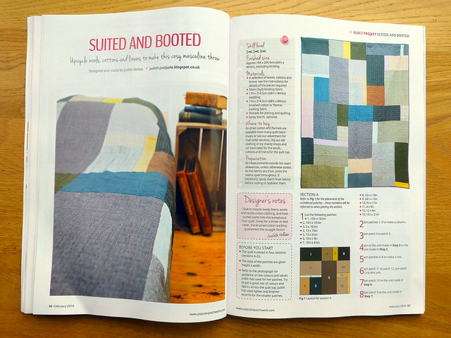 Popular Patchwork Feb'16 - Man Quilt
