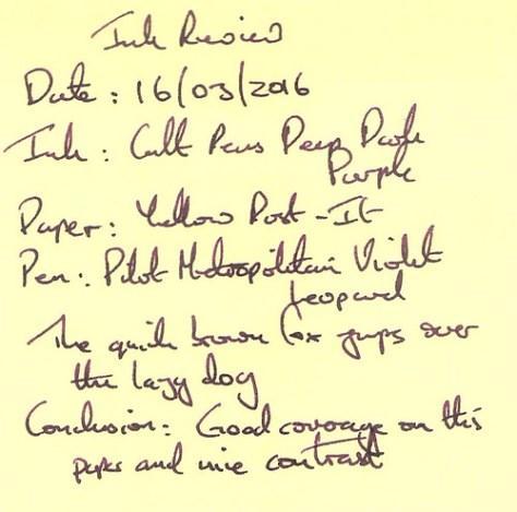 Cult Pens Deep Dark Purple - Post-It