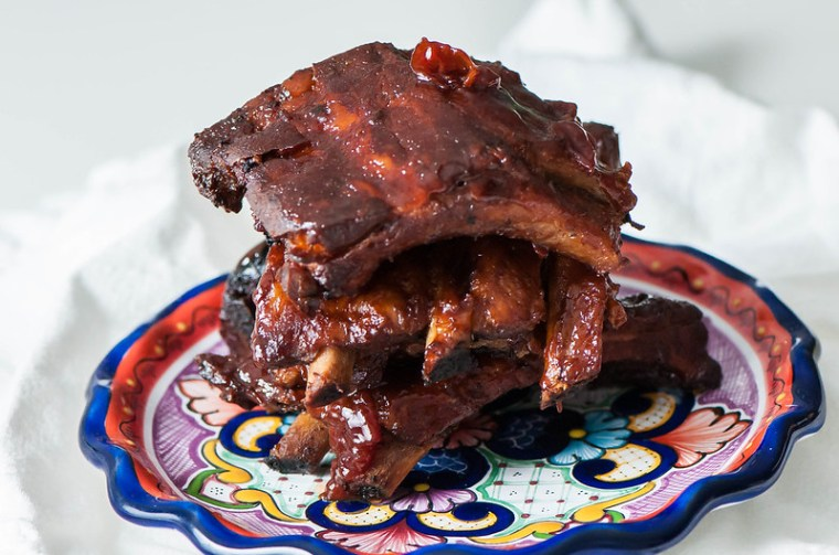 Slow Cooker Cherry BBQ Ribs 3