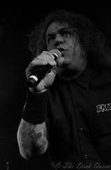 Steve 'Zetro' Souza of Exodus live in Belfast, 29 February 2016