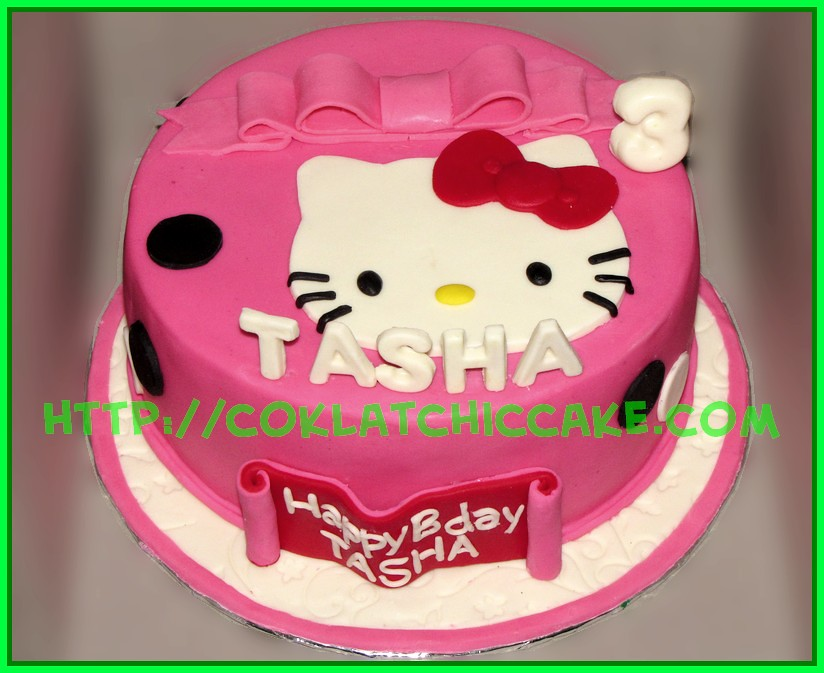 Cake Hello Kitty Tasha Coklatchic Cake