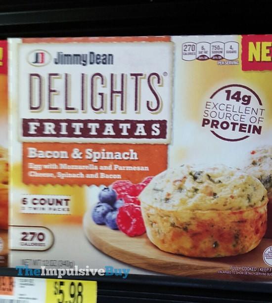 Jimmy Dean Delights Bacon & Spinach Fritattas
