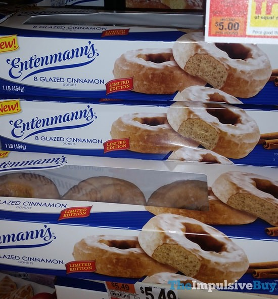 Entenmann's Limited Edition Glazed Cinnamon Donuts
