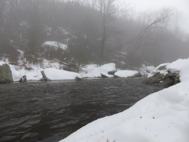 Snowy Boulder Pools on the Gunpowder River