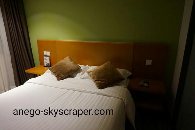 エアポートホテルのベッド