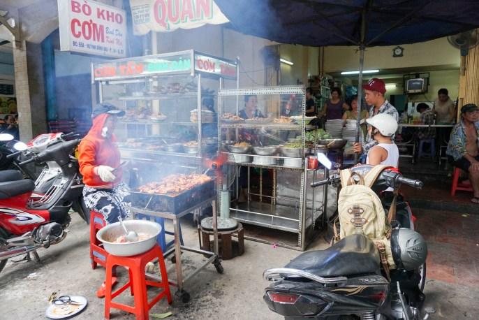A Good Street Food Eatery According to Saigon Street Eats Tour. Ho Chi Minh City, Vietnam, April 2016
