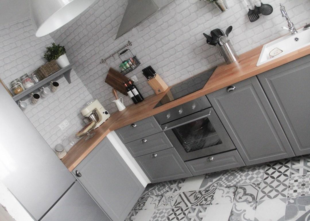 Mi cocina retro de ikea bodbyn gris for Cocinas completas ikea