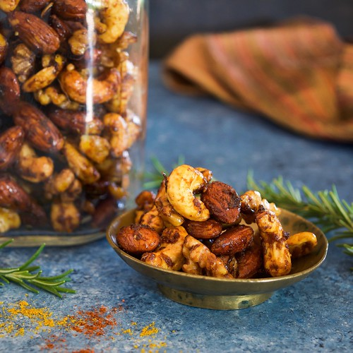 curry balsamic spiced nuts