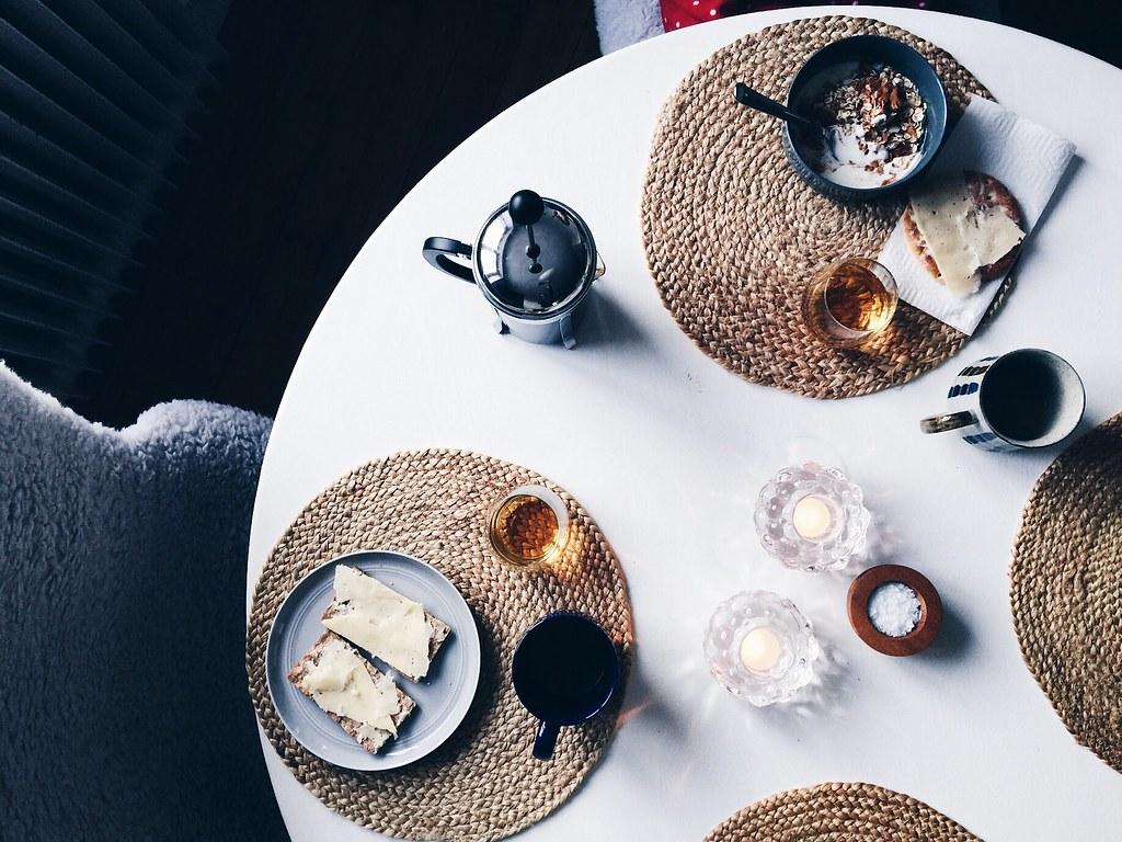 weekend breakfast table