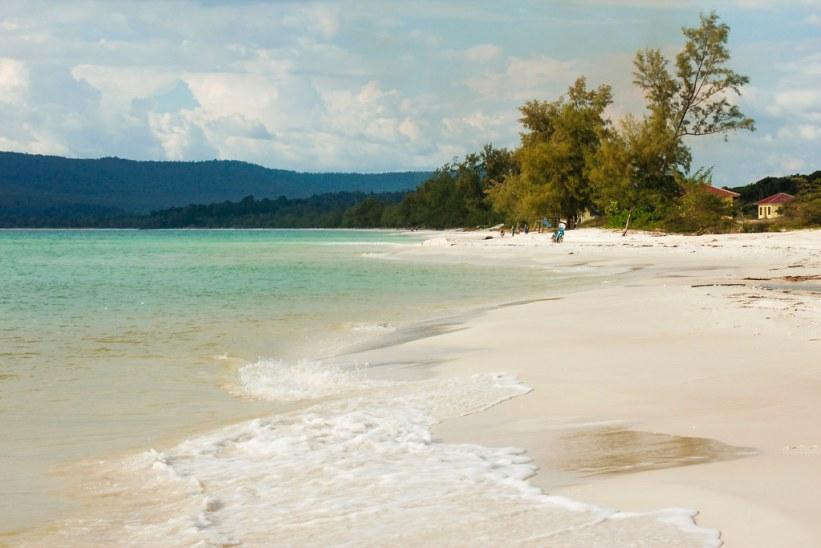 skøn strand i Cambodja