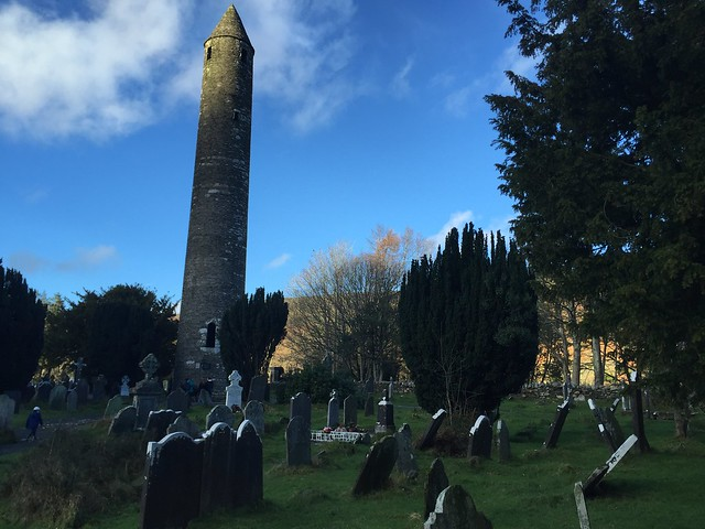 The monastic city of Glendalough and its famous round tower