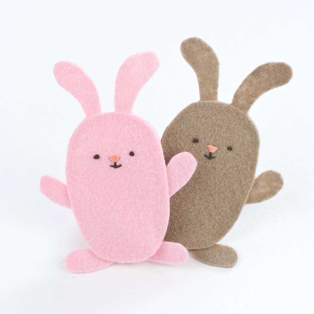 Wild Olive Project Easy Bunny Finger Puppets