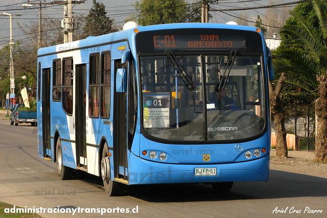 Transantiago - Unitran - Busscar Urbanuss Pluss / Mercedes Benz (BJFP51)