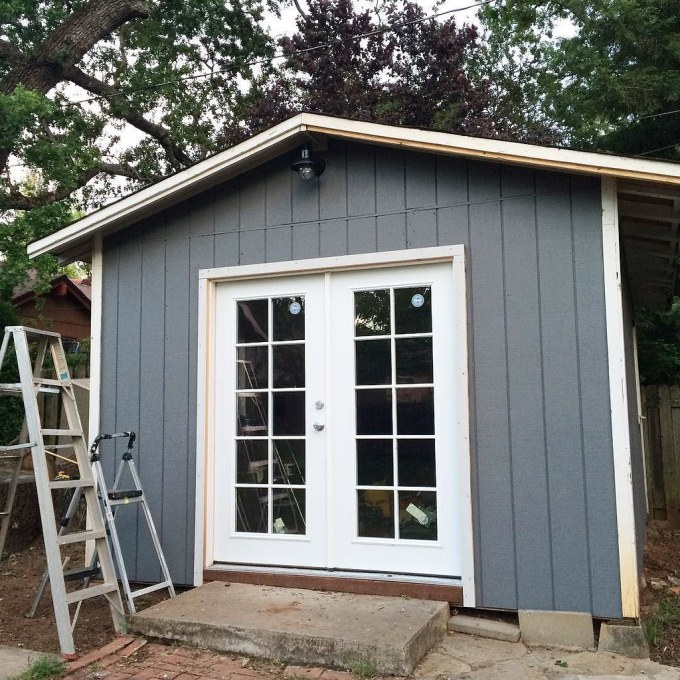 Progress! #sheshed #oneroomchallenge #behrpaint #homedepot