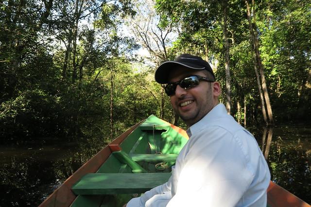 zaid canoe amazon rainforest