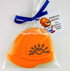 Hard Hat with BCCH Sunshine logo with custom tag