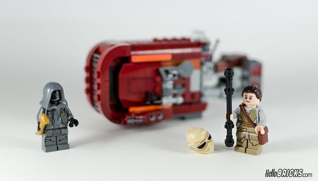 REVIEW LEGO Star Wars 75099 Rey's Speeder 23 - HelloBricks