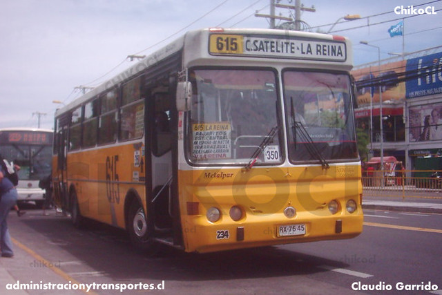 Micros Amarillas (615) - Metalpar Petrohué 2000 / Mercedes Benz (RX7545)