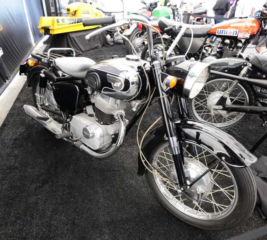Kawasaki historic bikes at the Speedway show
