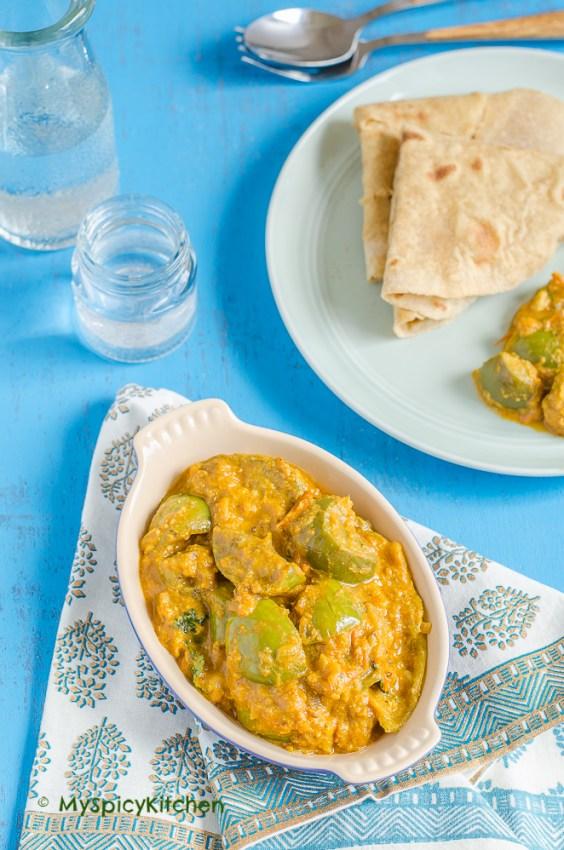 Vankaya Koora, Green Vankaya Kura, Masala Vankaya Kura, Green Eggplants Curry, Thai Eggplants Curry, Indian Curry, Indian Food, South Indian Food, Andhra Food, Telugu Food,