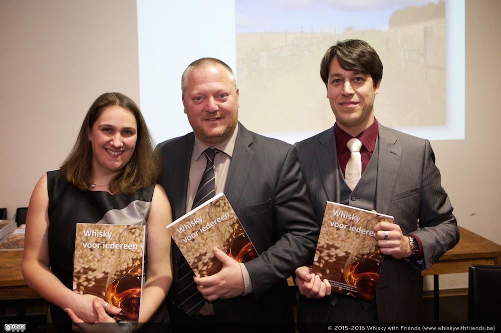 De auteurs van het Whisky voor iedereen boek (vnl.) Ilse Everaert, Mark Dermul en Niek Verniers