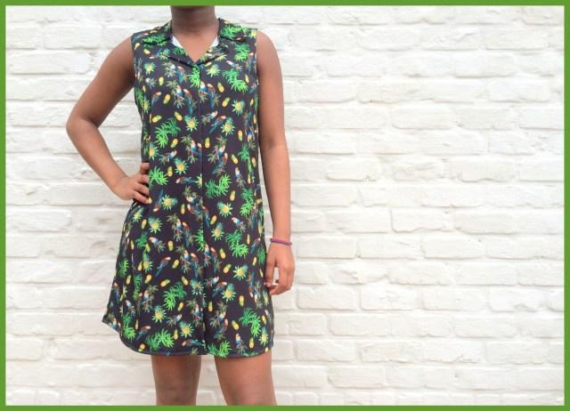 parrot shirt dress - Bangkok Basic blouse hack