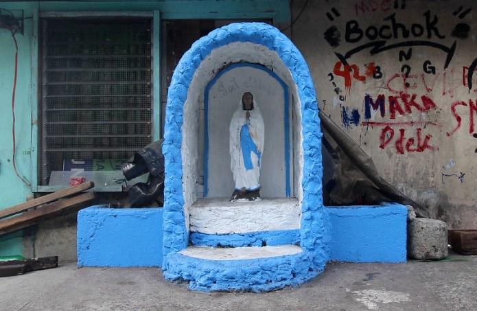 street side grotto, Matimyas St. 3
