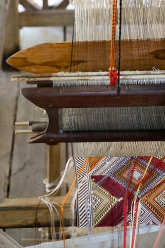Weaving in progress. Ock Pop Tok